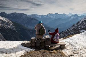 Europe, Germany, Bavaria, Alps, Mountains, Mittenwald, View from Karwendel