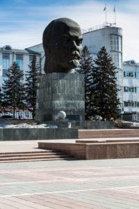 Asia, Russia, Siberia, Buryatia, Ulan Ude - sculpture Lenin's head