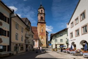 Germany, Bavaria, Mittenwald, Obermarkt, St. Peter and St. Paul's Church