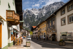 Germany, Bavaria, Mittenwald, Hochstrasse (street), Karwendel mountains
