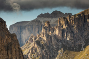 Europe, Italy, Alps, Dolomites, Mountains, Sella - Passo Pordoi