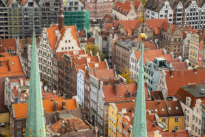Europe, Poland, Pomerania, Gdansk / Danzig, View from Mariacki Church