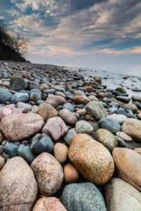 Europe, Poland, Pomerania, Rozewie Cap / Rixhöft beach, stones