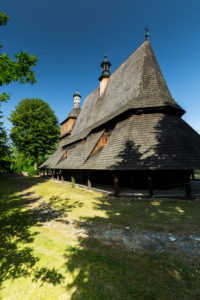 Europe, Poland, Lesser Poland Province, UNESCO World Heritage Site, Wooden Architecture Route, The Filial Church of St. Philip and St. Jacob in Sekowa