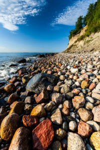Europe, Poland, Pomerania, Gdynia Orlowo, beach, pebbles