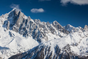Europe, France, Grenoble, French Alps, View from Chamonix-Mont-Blanc