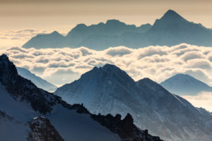 Europe, France, Grenoble, French Alps, Chamonix-Mont-Blanc, view from Aiguille du Midi