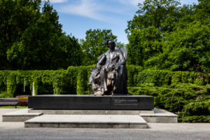 Europe, Poland, Lower Silesia, Wroclaw - Park Poludniowy - Frederic Chopin Monument