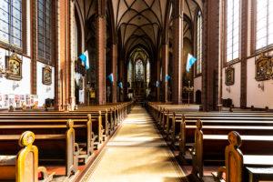 Europe, Poland, Lower Silesia, Walbrzych / Waldenburg, church, interior
