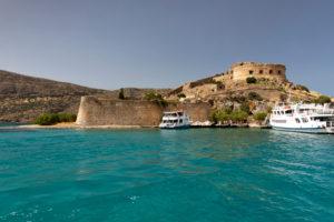 Überfahrt mit Boot von Spinalonga nach Elounda, Griechenland, Insel Kreta, Kalydon