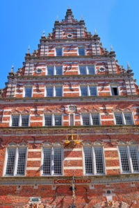 Historical Gable Front of the City Scales, Bremen, State of Bremen, Northern Germany, Germany