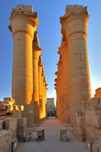 Colonnade in Luxor Temple, Luxor, Upper Egypt, Egypt