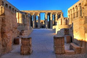 Zweiter Hof im Luxortempel, Luxor, Oberägypten, Ägypten