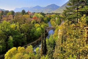 Passer und Steinerner Steg in der Gilfschlucht, Meran, Etschtal, Burggrafenamt, Südtirol, Italien