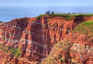 Viewpoint on the northwestern cliff, Heligoland, Heligoland Bay, German Bight, North Sea Island, North Sea, Schleswig-Holstein, Germany
