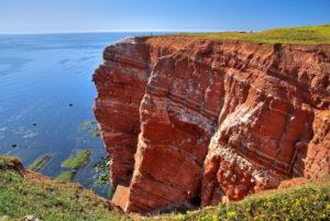 Northwestern cliff, Heligoland, Heligoland Bay, German Bight, North Sea island, North Sea, Schleswig-Holstein, Germany