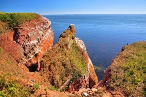 Northwest cliff with cliff, Heligoland, Heligoland bay, German bay, North Sea island, North Sea, Schleswig-Holstein, Germany