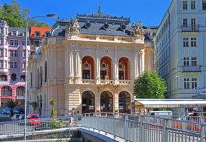 Spa Theater, Karlovy Vary, Spa Triangle, Bohemia, Czech Republic