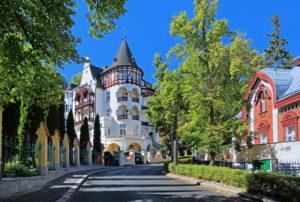 Magnificent old villa, Karlovy Vary, Spa Triangle, Bohemia, Czech Republic