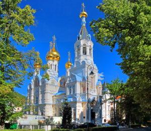 Russian Church, Karlovy Vary, Spa Triangle, Bohemia, Czech Republic