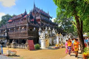 Shwenandaw-Kloster aus Teakholz, Königsstadt Mandalay, Myanmar