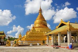 Kuthodaw-Pagode, ( Grösstes Buch der Welt ), Königsstadt Mandalay, Myanmar