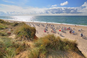 Beach at the Rotes Kliff, Kampen, North Sea island, Sylt, North Frisian Islands, North Frisia, Schleswig-Holstein, Germany