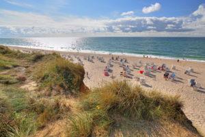 Strand am Roten Kliff, Kampen, Nordseeinsel, Sylt, Nordfriesische Inseln, Nordfriesland, Schleswig-Holstein, Deutschland