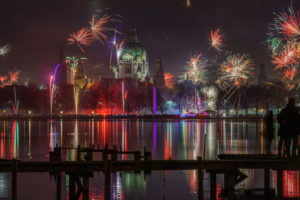 New Year's Eve in the Maschsee in Hannover