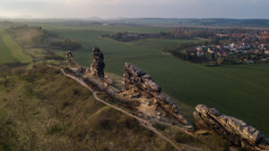 Nature reserve Harz, the devil's wall from the air