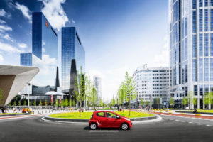 Station forecourt and traffic junction of Rotterdam, Netherlands
