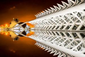 Architektur von Santiago Calatrava, Museo de las Ciencias Principe Felipe, Ciudad de las Artes y las Ciencias, Valencia, Spanien