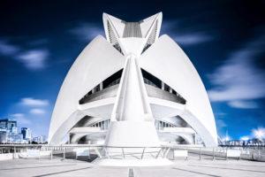 Opera house Palau de les Arts Reina Sofia, architect Santiago Calatrava, Ciudad de las Artes y de las Ciencias, Valencia, Spain