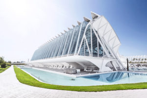 Architektur von Santiago Calatrava, Museo de las Ciencias Principe Felipe, Ciudad de las Artes y las Ciencias, Valencia, Spain