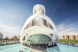 Opernhaus Palau de les Arts Reina Sofia, Architekt Santiago Calatrava, Ciudad de las Artes y de las Ciencias, Valencia, Spanien