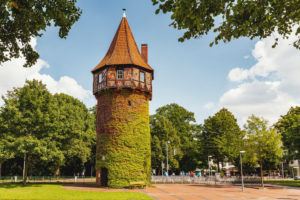 Döhrener tower at the city forest Eilenriede, Hannover, Lower Saxony, Germany