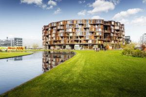 Student residence Tietgenskollegiet in district ÿrestad, Amager, Copenhagen, Denmark