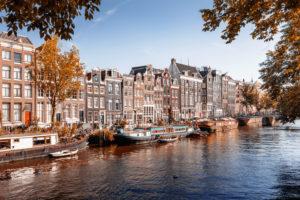 Herbst in Amsterdam, Niederlande