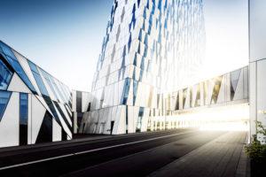 Bella Sky Hotel with modern architecture in Copenhagen, Ørestad, Denmark, Scandinavia