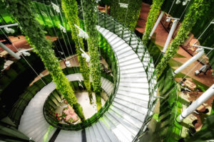 Emporia shopping mall with modern architecture in Malmo, Sweden
