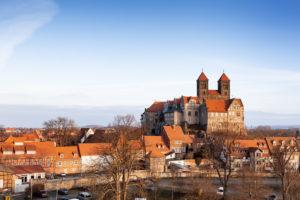 Schloss Quedlinburg im Harz, Sachsen-Anhalt, Deutschland