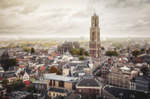 View of Utrecht, one of the oldest cities in the Netherlands