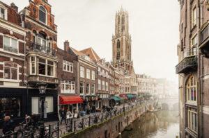 Blick auf den Dom von Utrecht, Niederlande