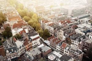 Blick auf Utrecht, eine der ältesten Städte der Niederlande