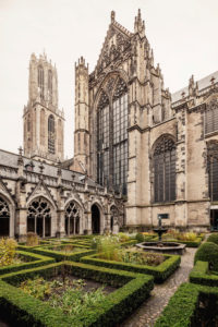 Courtyard of Utrecht Cathedral, The Netherlands