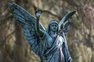 Angel statue, Ohlsdorf cemetery, Hamburg,