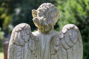 Engelsstatue, back view, detail, Ohlsdorfer Friedhof, Hamburg,