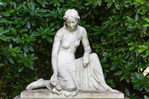 Female figure, Ohlsdorf cemetery, Hamburg,