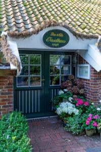 Entrance area, Historic 'Altes Inselhaus', Detail, Spiekeroog island, Lower Saxony,
