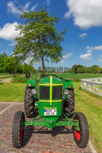Tractor Deutz year of manufacture 1952/15 hp, detail, Tjaden's mill, Südcoldinne, parish Großheide, East Frisia,